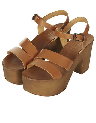 Topshop NELSON Chunky 2 Part Sandals