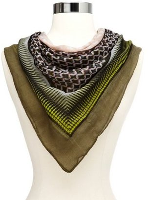 Charlotte Russe Mixed Geo Print Infinity Scarf