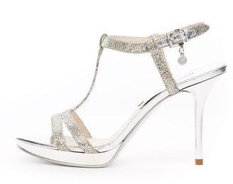 Michael Kors Yvonne Metallic T-Strap Sandal