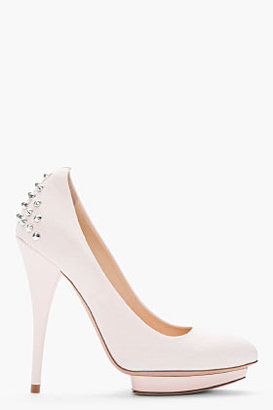 McQ by Alexander McQueen Pale pink Studded suede Pointed Pumps