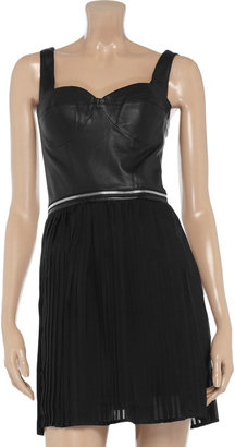 Mackage Leather and silk dress