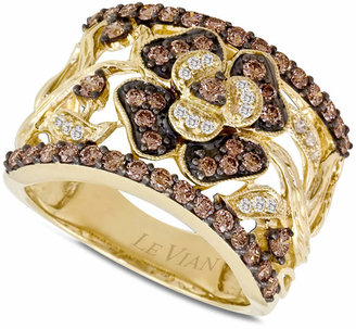 Le Vian Chocolate Diamonds Flower Ring (1 ct. t.w.) in 14k Gold $4,001 thestylecure.com