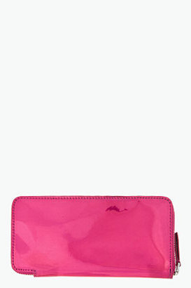 Marc by Marc Jacobs Rose Holographic Slim Zippy Wallet
