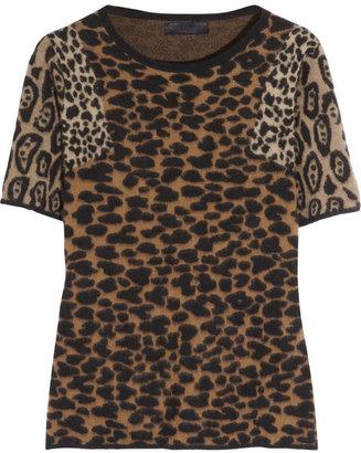 Burberry Animal-print cashmere sweater