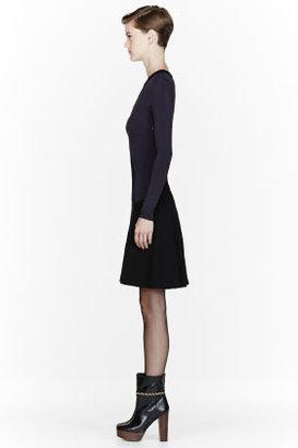Stella McCartney Purple Jersey trompe l'oeil Dress