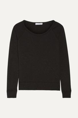 James Perse Vintage Supima Cotton-terry Top - Black