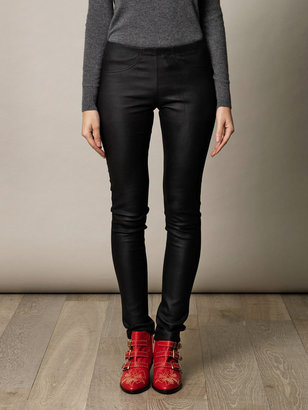 Drome Back pocket stretch leather leggings
