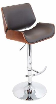Lumisource Santi Adjustable Barstool Wood Composite/Cherry