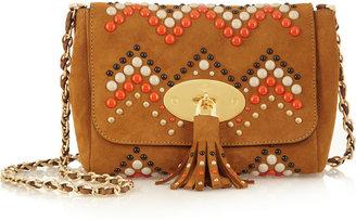 Mulberry Zigzag Lily suede shoulder bag