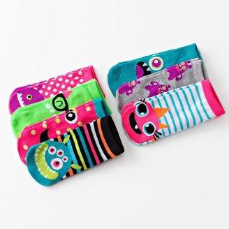 Pink Cookie 7-pk. monster no-show socks - girls