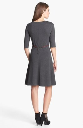 Max Mara 'Azulene' Belted Jersey Dress