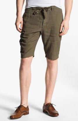 Vince Flat Front Linen Shorts
