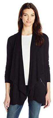 Kensie Women's Drapey French Terry Open Cardigan Sweater $99 thestylecure.com