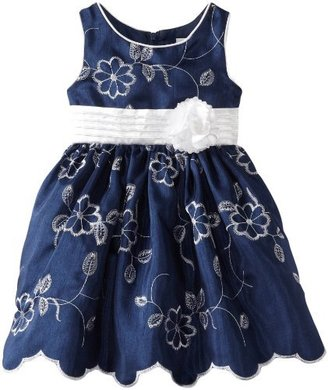 Sweet Heart Rose Girls 2-6X Embroidered Floral Dress