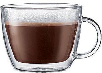 Bodum Set of 2 Bistro 15-oz. Double-Wall Glass Latte Mugs