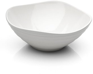Mikasa Swirl White Square Vegetable Bowl