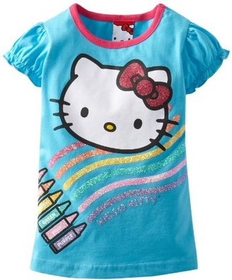 Hello Kitty Girls 2-6x Short Sleeve F...