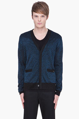 Marc by Marc Jacobs metallic blue Lurex Sweater