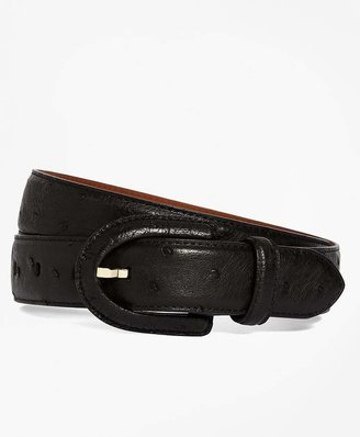Ostrich Covered Buckle Belt $448 thestylecure.com