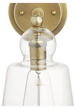 Crate & Barrel Lander Brass Sconce