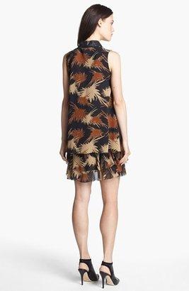 Rachel Zoe 'Waverly' Print Crepe Trapeze Dress