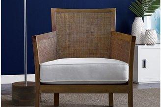Crate & Barrel Blake Grey Wash Chair with Fabric Cushion