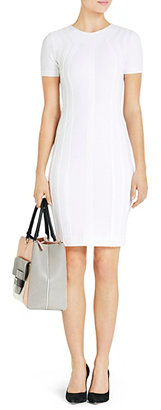 Diane von Furstenberg Kader Clean Stretch Knit Dress In White