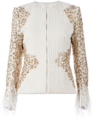 Prabal Gurung fitted sequin jacket
