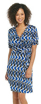 Amy Byer Printed Faux Wrap Dress