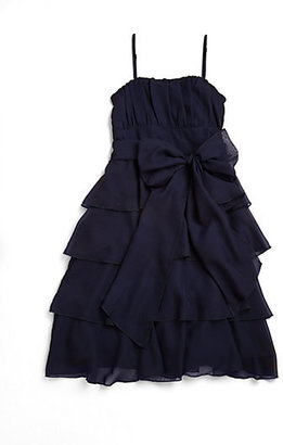 Un Deux Trois Girl's Ruffled Chiffon Dress