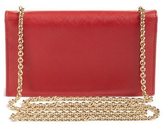 Salvatore Ferragamo Women's Salavatore 'Miss Vara' Leather Wallet On A Chain - Red