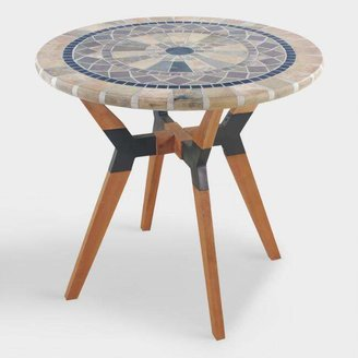 Natural Stone Mosaic Canary Outdoor Bistro Table