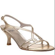Stuart Weitzman Evening - Reversal - Gold Leather Sandal