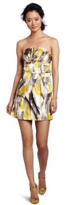 Tcec Women's Printed Strapless Dress