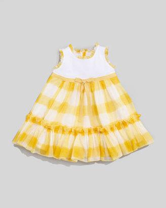 MonnaLisa Yellow Check Dress