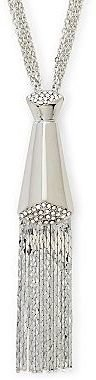 JCPenney Chain & Crystal Tassel Necklace