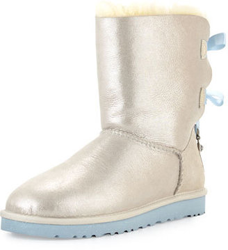 UGG I Do! Bailey Bling-Bow Boot, White $295 thestylecure.com