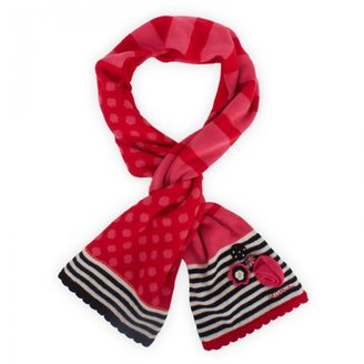 Catimini Pink & Red Flower Scarf
