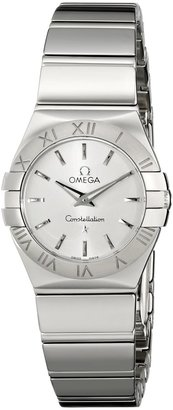 Omega Women's 123.10.24.60.02.002 Constellation 09 Polished Silver Dial Watch