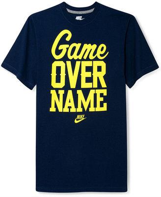 Nike T-Shirt, Game Over Name Basketball