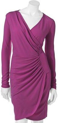 JLO by Jennifer Lopez ruched faux-wrap dress