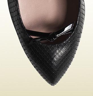 Gucci Python High Heel Pump