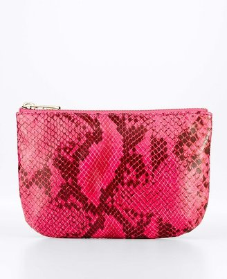Ann Taylor Exotic Embossed Zip Pouch