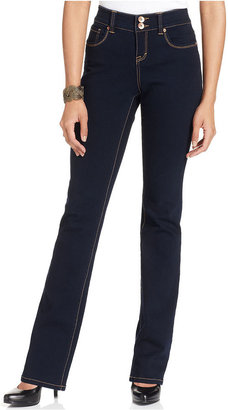 Style&Co. Petite Jeans, Curvy-Fit Bootcut, Rinse Wash