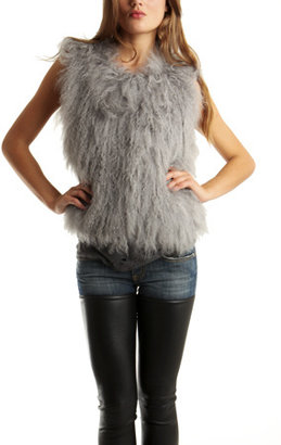 IRO Antea Fur Vest in Grey