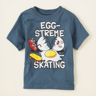 Children's Place Eggs'treme skating graphic tee