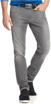 Armani Jeans Men's Slim-Fit Comfort Stretch Jeans, Grey Wash $145 thestylecure.com