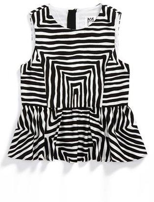 Milly Minis 'Pippa' Peplum Top (Toddler Girls, Little Girls & Big Girls)