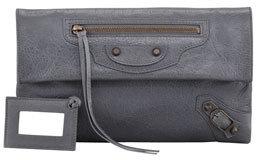 Balenciaga Classic Envelope Clutch Bag, Gris Tarmac
