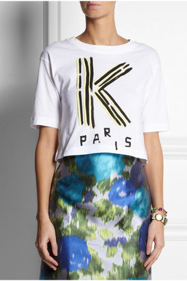 Kenzo Cropped cotton T-shirt
